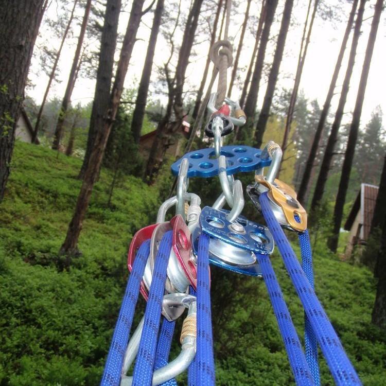 aukštalipių įranga medžių tempimui